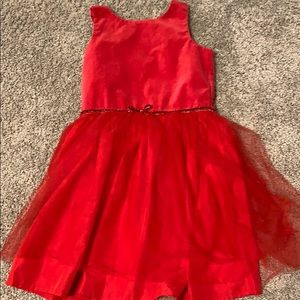 2/$13 EUC girls velvet tulle glitter Xmas dress